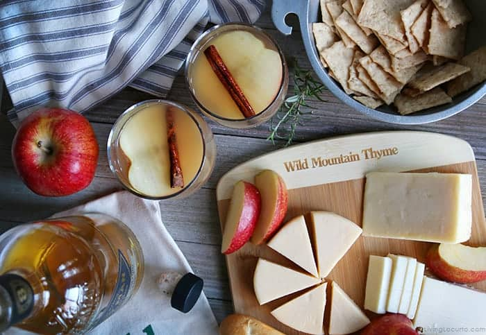 Irish Apple Cider Cocktail and Cheese Board