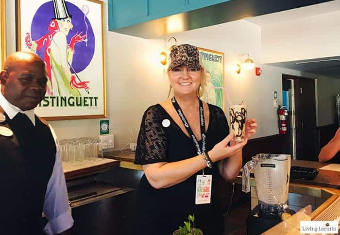 Making drinks with Social Media on the Sand event at Beaches Resorts in Turks & Caicos to plan your next family trip! All-Inclusive Caribbean vacation travel review by Amy Locurto Food and Travel Blogger.