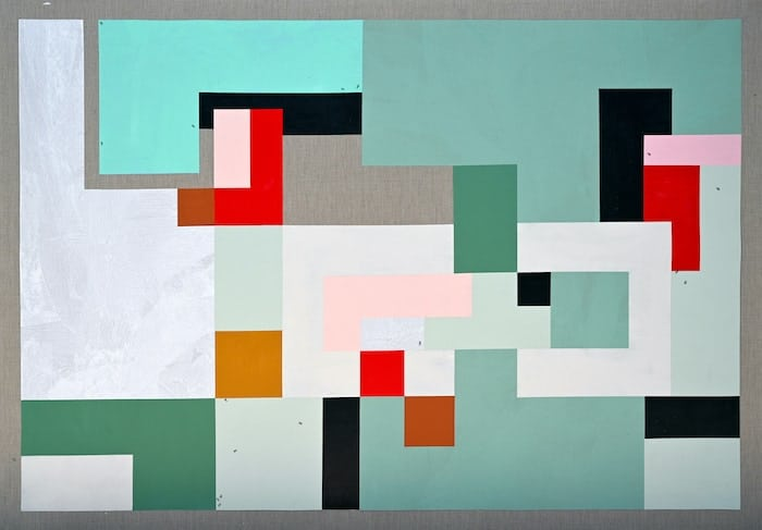 Ruba Salameh, Carmel (2020), acrylic on linen, 128 x 183 cm