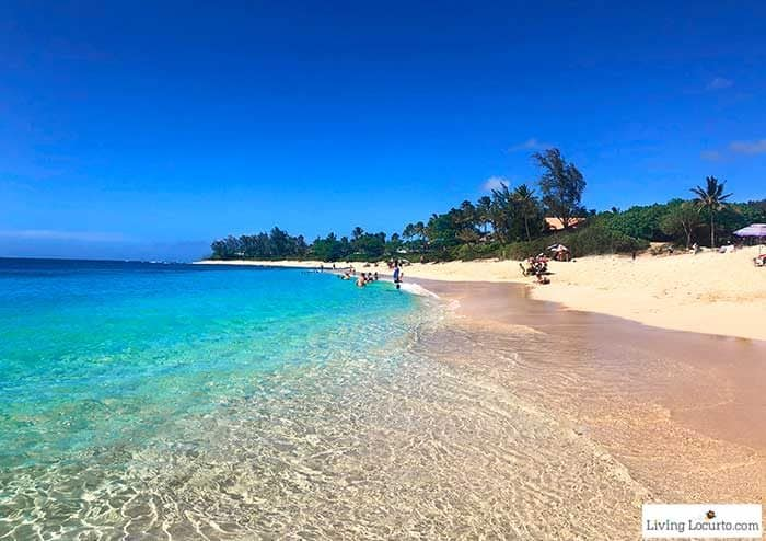 Sunset Beach North Shore water - 2 Day Oahu Itinerary - Honolulu Hawaii Travel Tips - Living Locurto