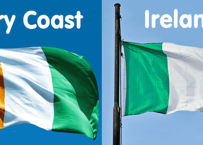 Ivory Coast vs The Republic of Ireland flag.