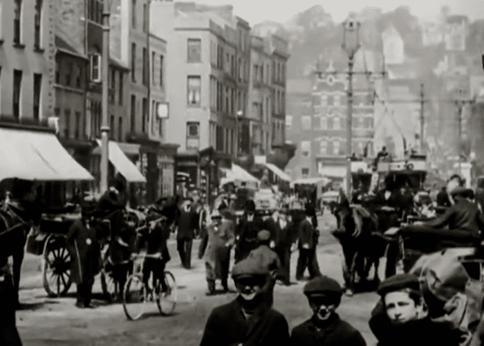 Screenshot from Co. Cork Ireland in 1902 on this very rare footage.