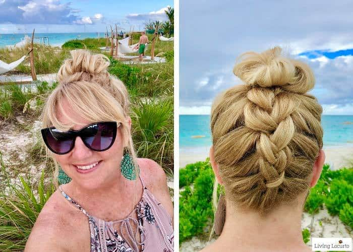 Dry Bar beach hairstyle. Learn all about Beaches Resorts in Turks & Caicos to plan your next family trip! All-Inclusive Caribbean vacation travel review by Amy Locurto Food and Travel Blogger. LivingLocurto.com