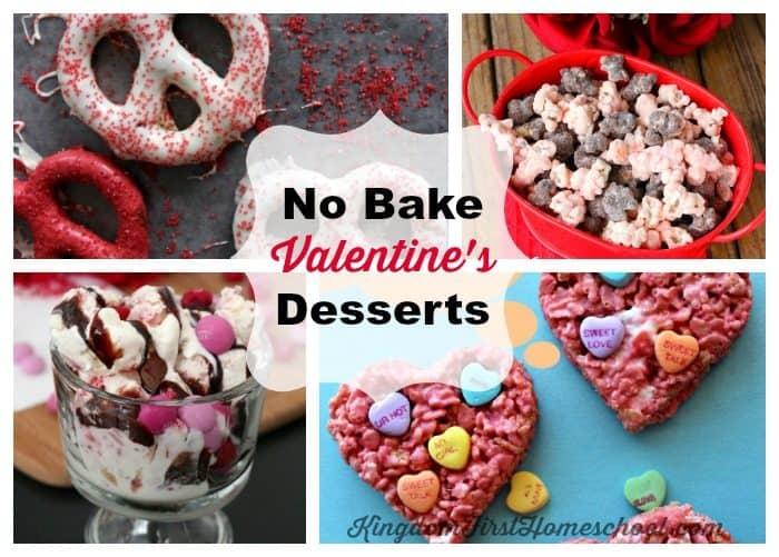 No Bake Valentine's Day Desserts