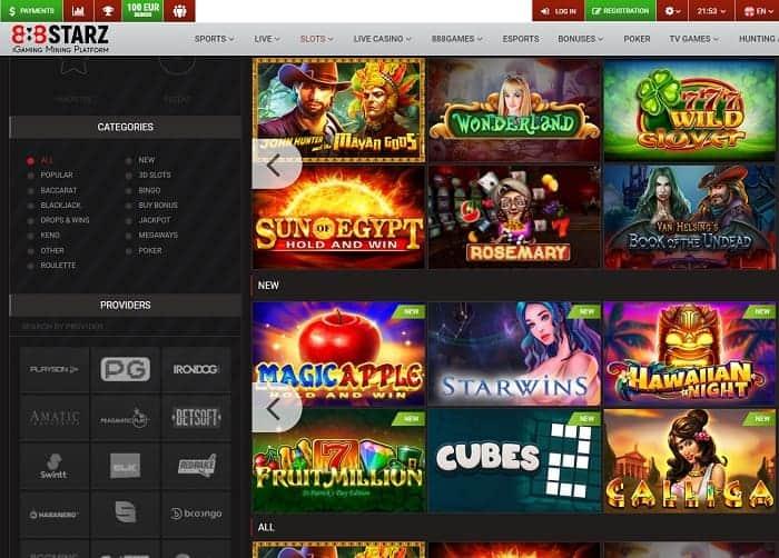 888STARZ Casino Website Review