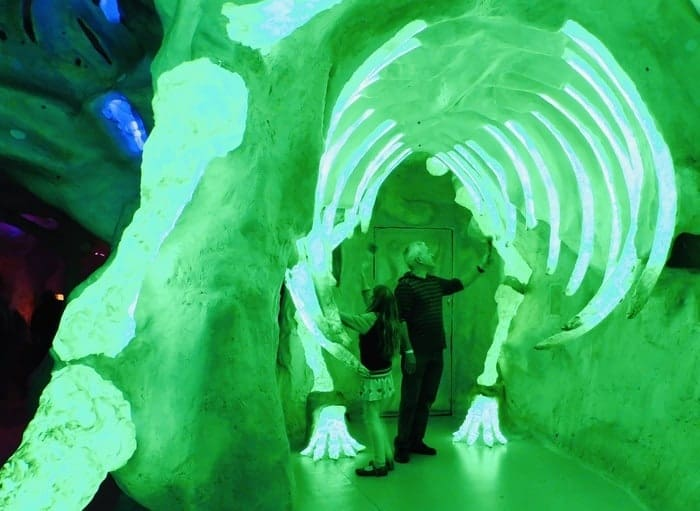 Fun with music and dinosaurs at meowwolf in santa fe