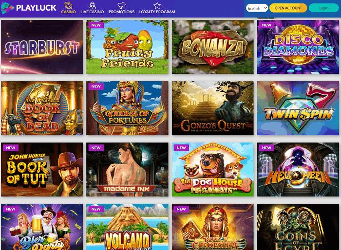 PlayLuck CasinoWebsite Review