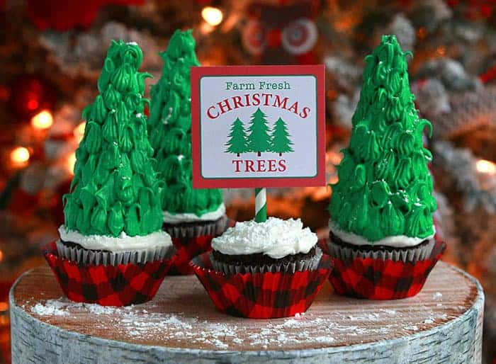 Cute Christmas Tree Cupcakes Recipe