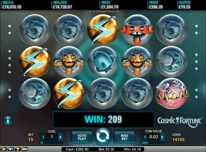 Cosmic Fortune Jackpotbig win