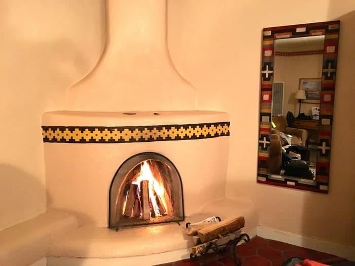 A kiva firelepace at the taos inn