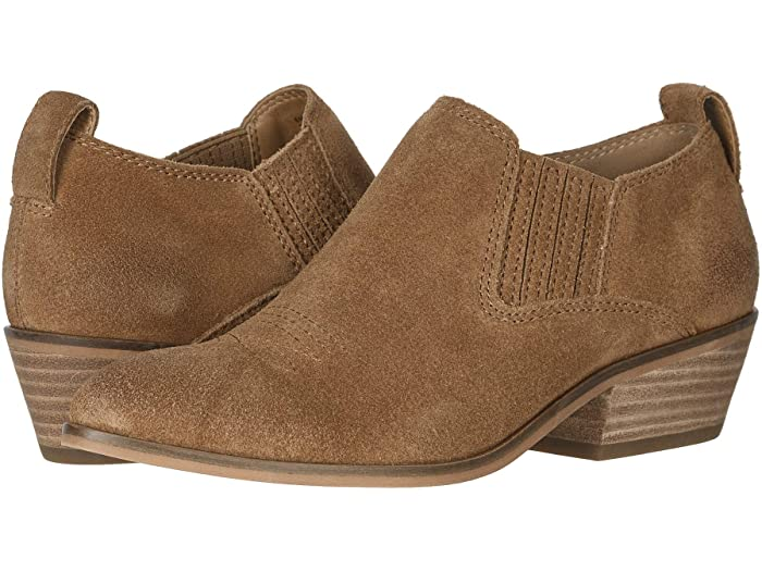 These frye & co. Rubie slip-ons in cognac are western enough to be fun but not enough to be kitchy.