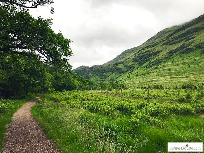 Glen Nevis Hiking Trail. 5 Best Outdoor Scotland Family Vacation Ideas! Amazing nature trips in Scotland for families. Kid friendly Scottish highlands vacation ideas and travel tips.