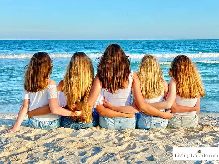 5 Ways to to Help Teens parenting advice by Living Locurto - Friends at the beach