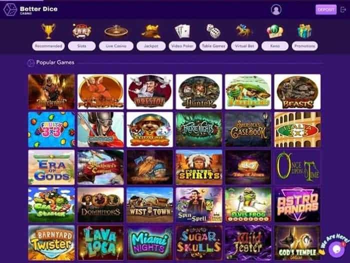 Better Dice Casino Online Bonus