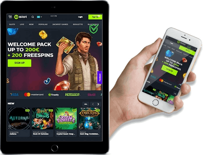 GSlot Mobile Casino Free Spins