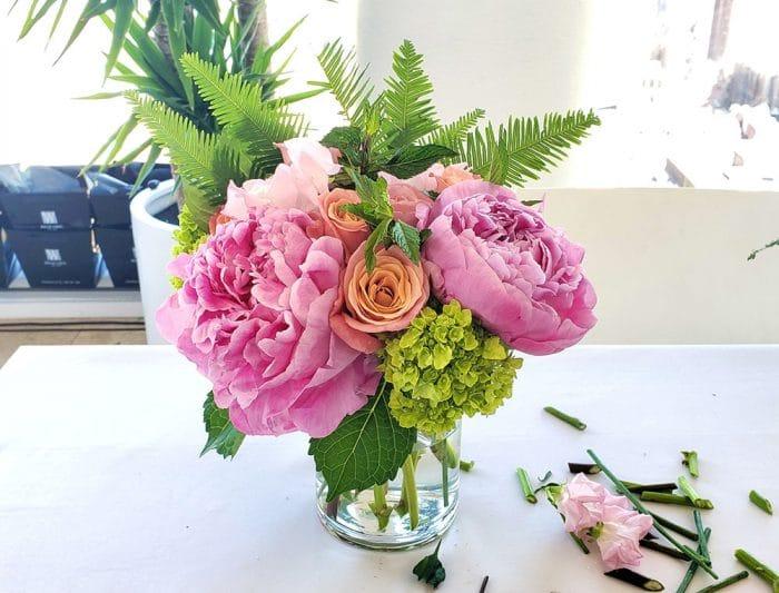 Big pink flowers in a vase