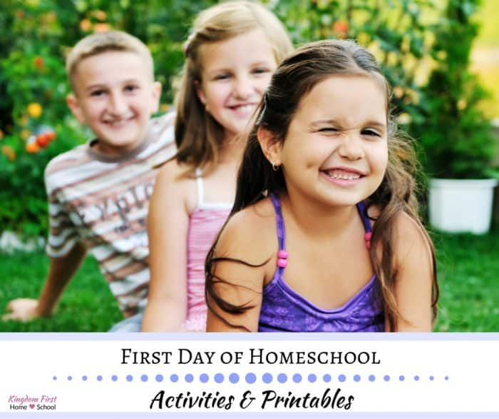 First Day of Homeschool Activities and Printables