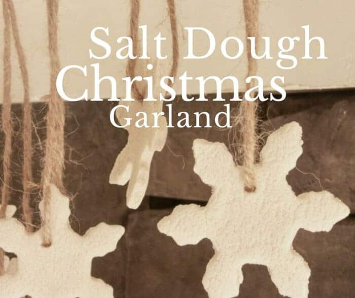 salt dough ornaments hanging from twine