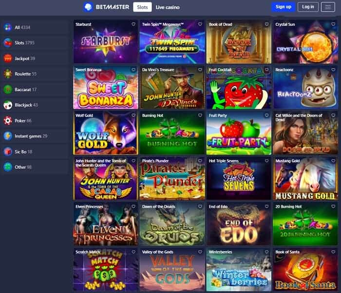 Start winning real money at Betmaster Casino