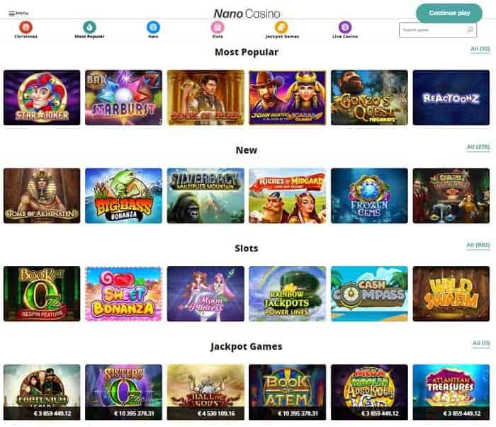 Nano Casino Review Website