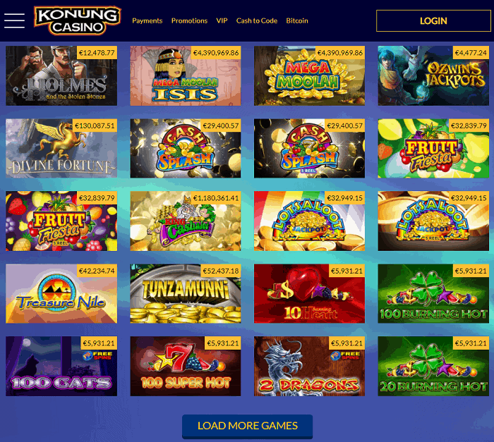 Konung Casino Review Page