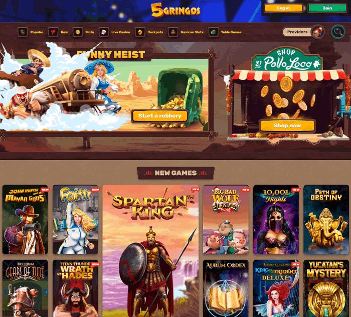 5 Gringos Casino Review