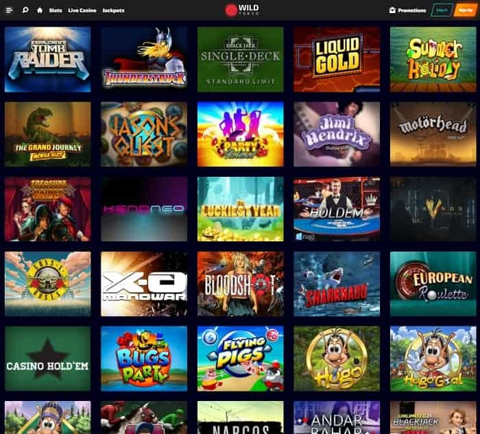 Wild Tokyo Casino Free Spins and Promotions