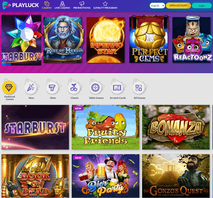 Playluck Casino Full Review