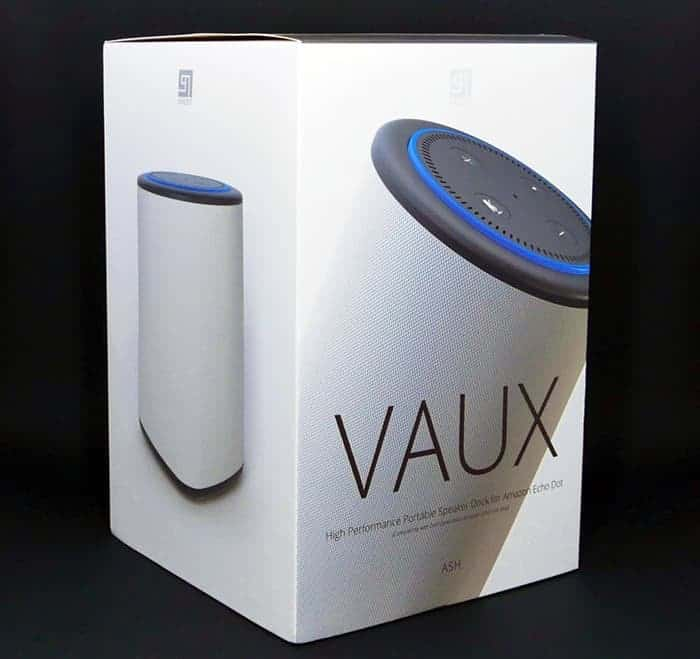 Best Speaker for Echo Dot - the Vaux Cordless Speaker in box 2