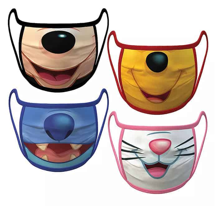 Disney fans will love these adorable cloth Disney Face Masks for adults and kids.