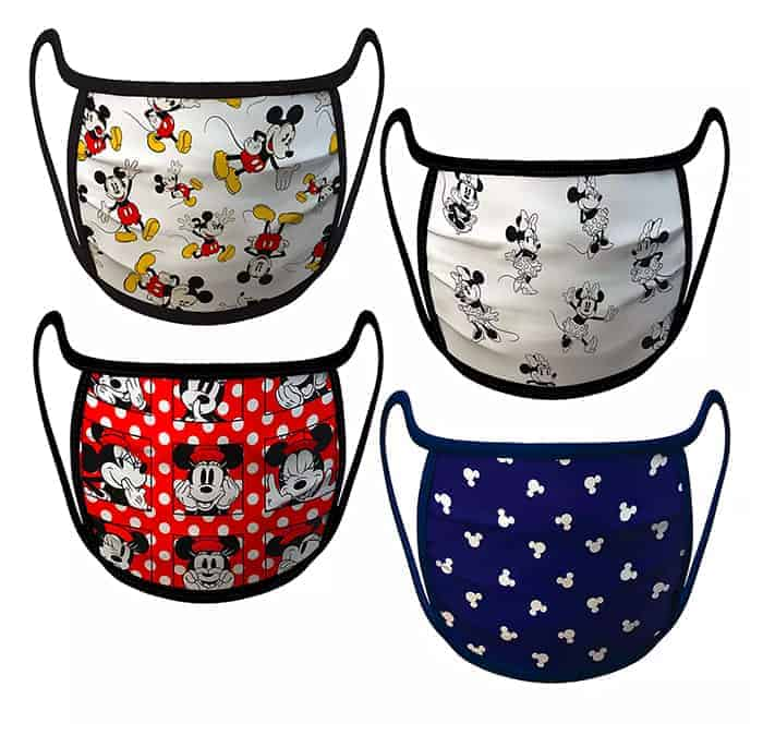 Mickey and Minnie Mouse Face Masks