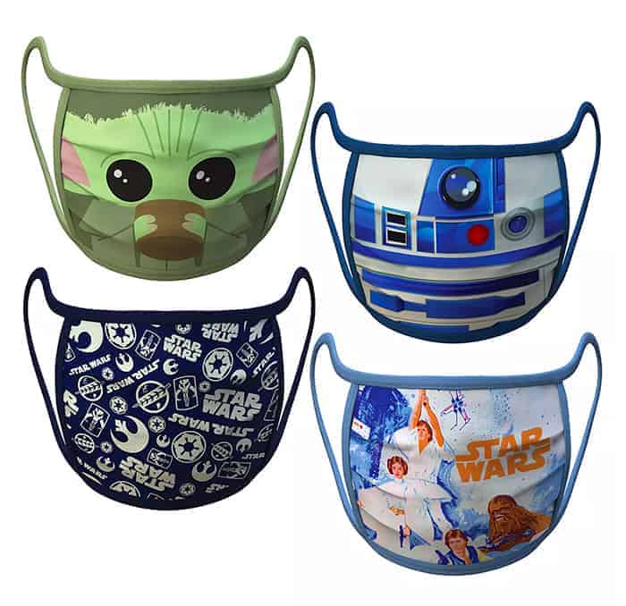 Disney fans will love these adorable cloth Disney Face Masks for adults and kids. Star Wars designs.