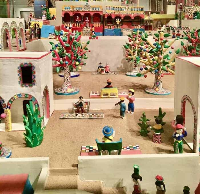 The colors of coco enrich this miniature mexican town at the museum if international folk art.