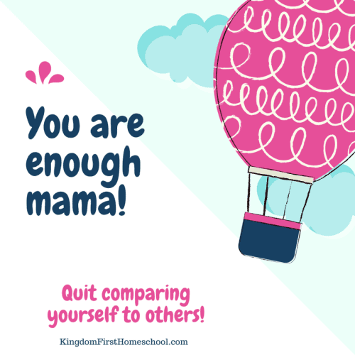 You are enough mama! Quit comparing your self to others.