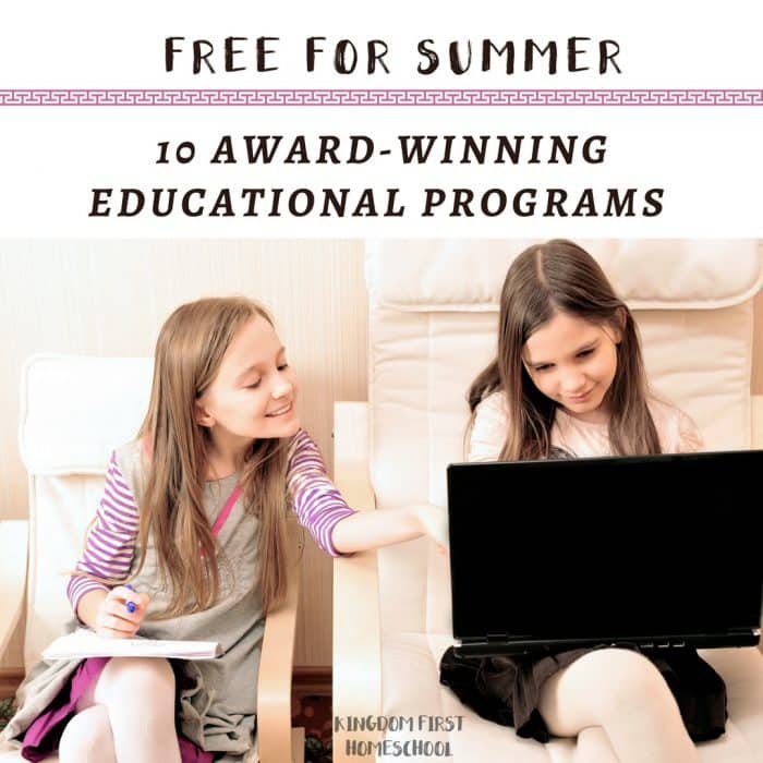 10 Award-Winning Educational Programs Free for the Summer