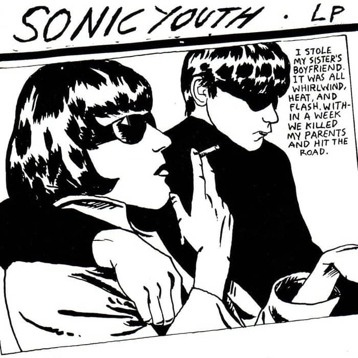 Sonic Youth, Goo designed by Raymond Pettibon, 1990