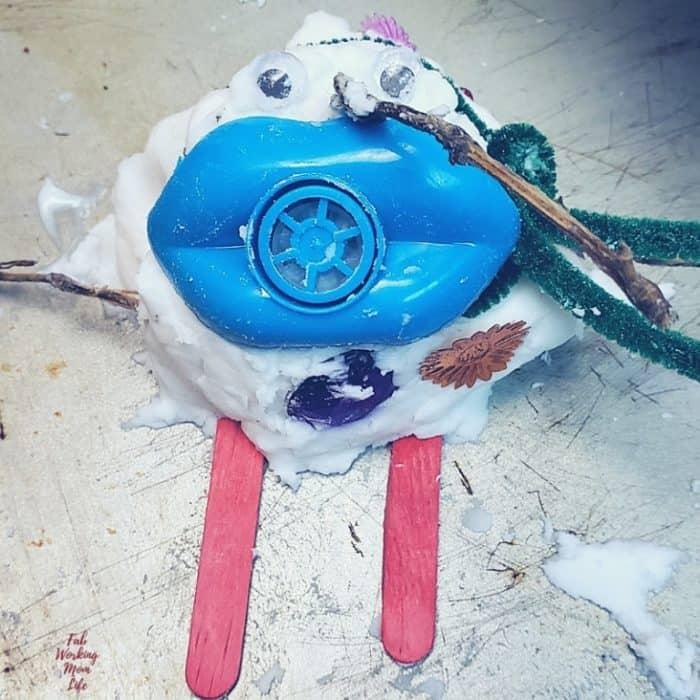 silly sensory snowman