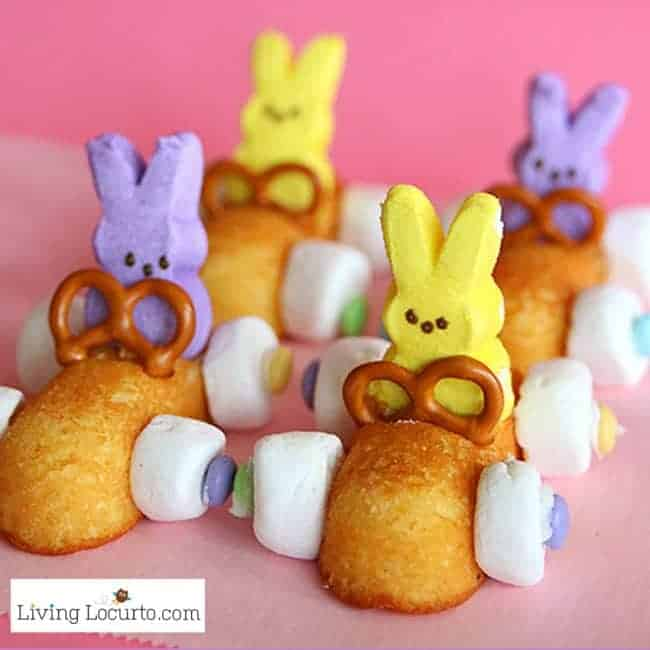 Easter Bunny Race Car Peep Desserts