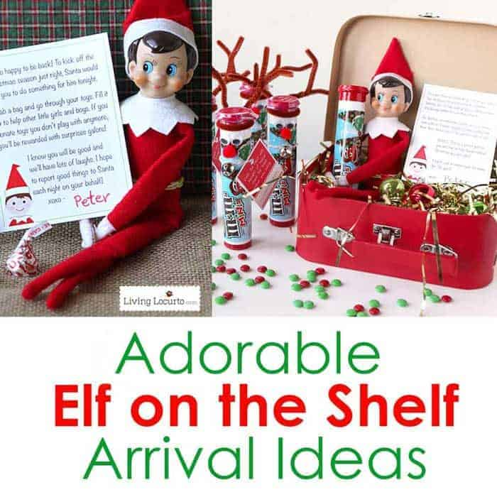 Best Elf on the Shelf Arrival Ideas! Printables and cute ideas direct from the North Pole to wow your kids.