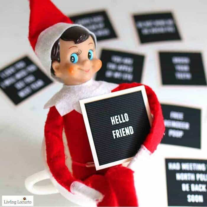 Elf on the Shelf Arrival Ideas - Printable Elf Letter Board Signs by LivingLocurto.com
