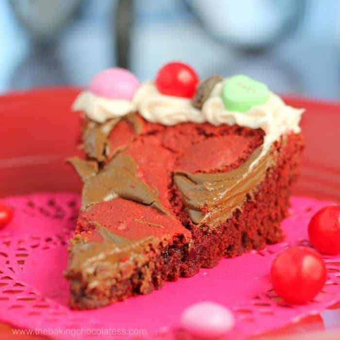 Valentine Red Velvet Party Blast Cookie Pie