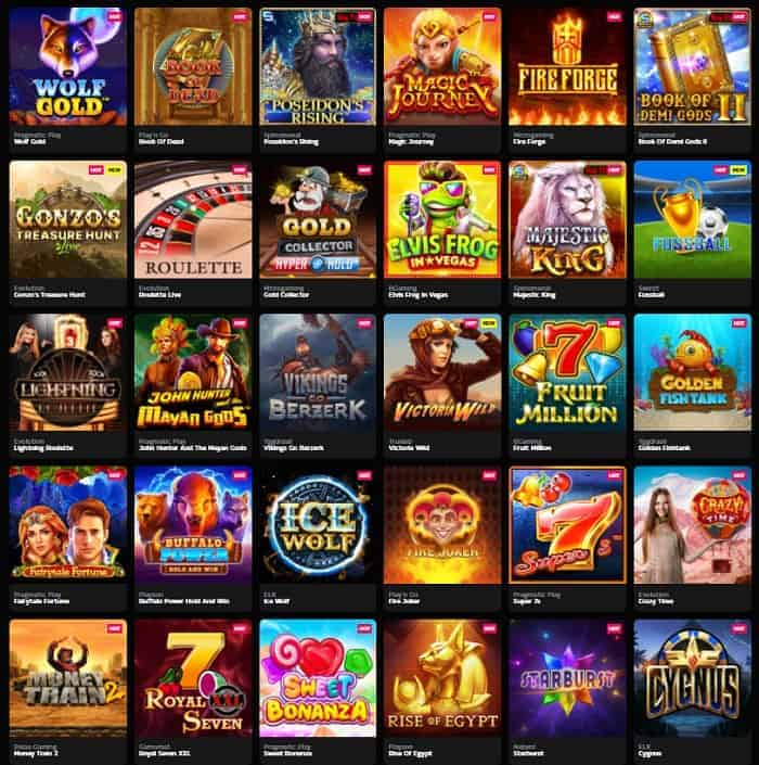 Play games with free spins!