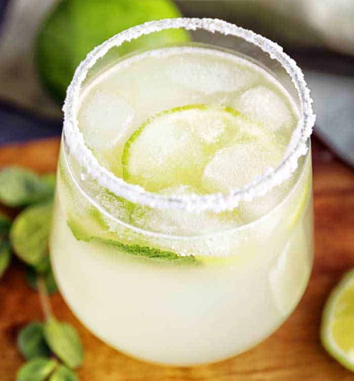 This Margarita Mix recipe is an easy homemade mix to make a classic lemon lime margarita home. Add tequila for the best margarita!