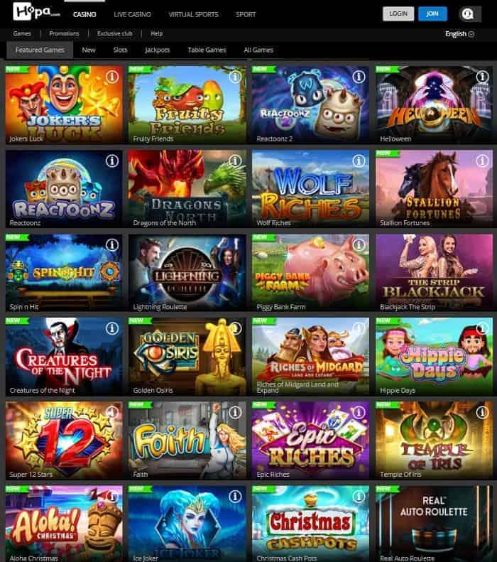 Hopa.com Casino free spins no deposit bonus