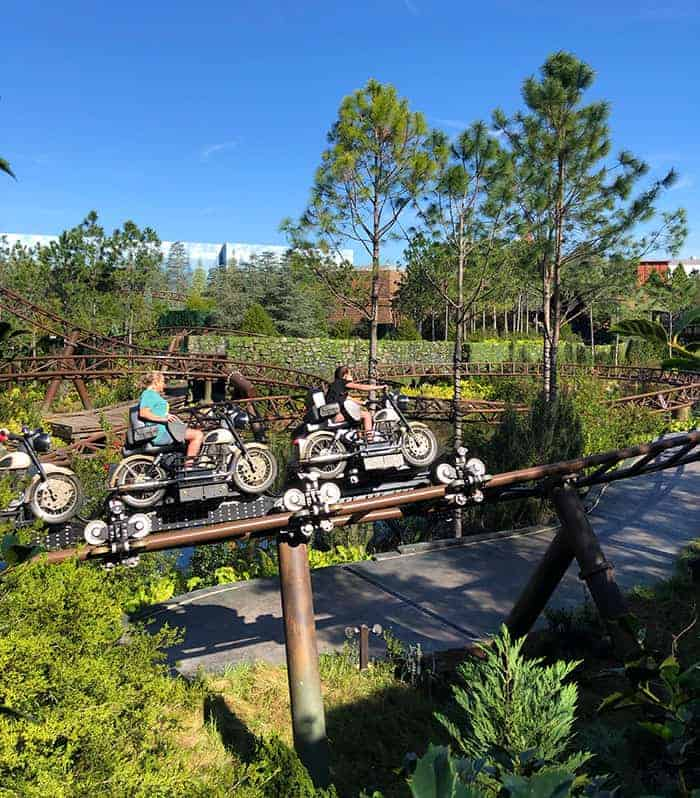 Universal Orlando Ride Hagrids Motorbike adventure harry potter world
