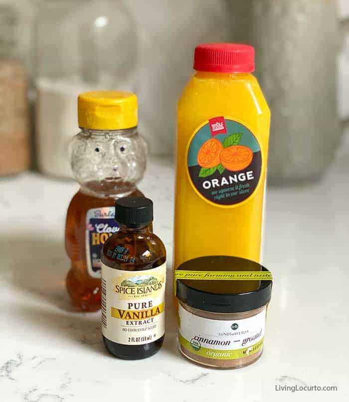 Cinnamon Honey Dressing fruit salad ingredients