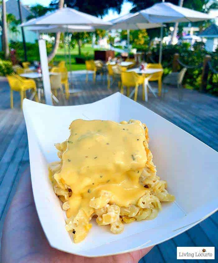 Food Trucks Mac & Cheese. Learn all about Beaches Resorts in Turks & Caicos to plan your next family trip! All-Inclusive Caribbean vacation travel review by Amy Locurto Food and Travel Blogger.