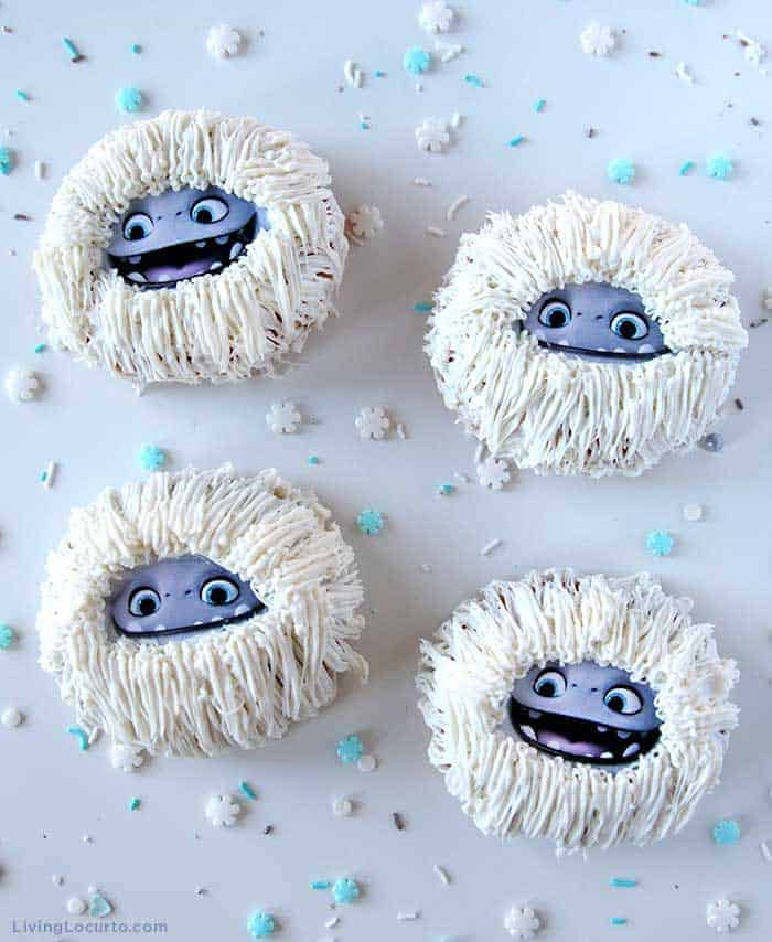 Abominable Yeti Donuts - Cute Movie Themed Dessert for a party. Living Locurto