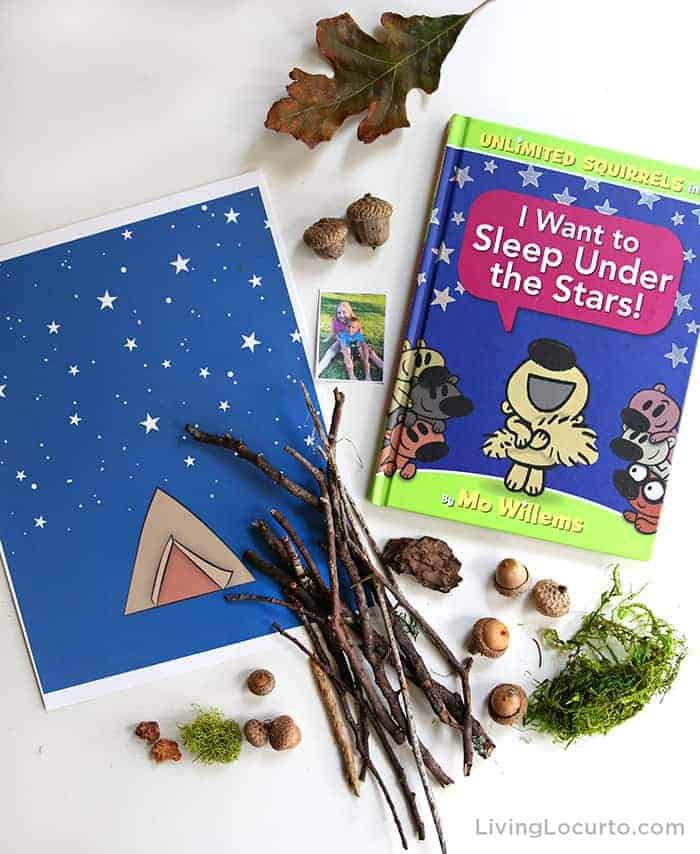 Fun nature craft for kids inspired by the book Unlimited Squirrels