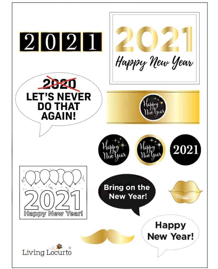 2021 New Years Eve Party Printables